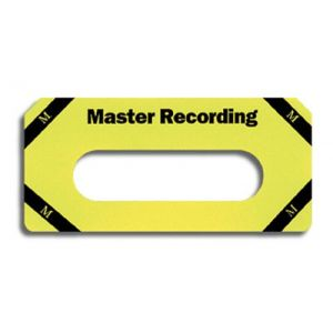 Cassette Tape Labels for Master Recordings - Yellow