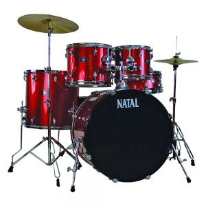 Natal Drums DNA, 5 Drum Set, Red (K-DN-UF22-RE)