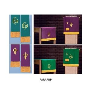 Purple & Green Reversible Embroidered Paraments 2