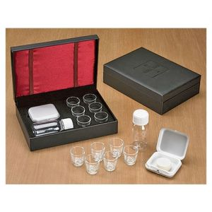 Portable Communion Set in Leather Look Case