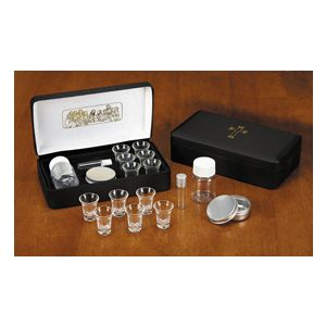 Last Supper Metal Hinged Portable Communion Set