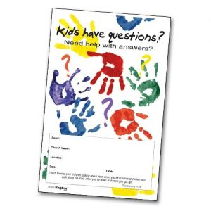 Kids Have Questions Handprints - Poster A
