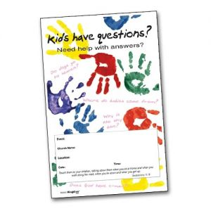Kids Have Questions Handprints - Poster B