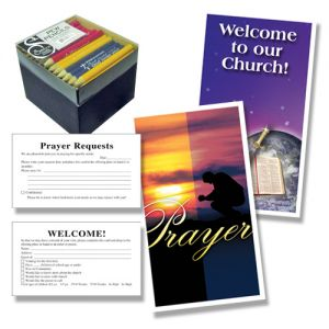 Welcome & Prayer Cards with Pencils Package