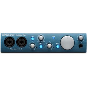2x2 USB 20 iPad MIDI Recording Interface w 2 mic inputs