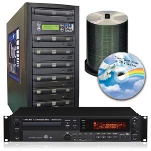 Tascam CD Recorder and 7 Bay Duplicator Package