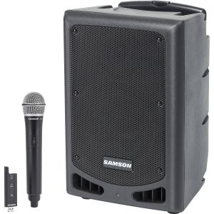"Samson Expedition XP208w 8"" 2-Way 200W Portable Bluetooth-Enabled PA System with Wireless Handheld Mic"