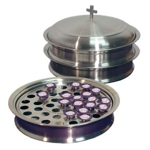 Stainless Steel Communion Ware Set for up to 120