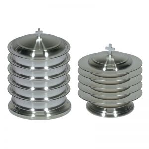 Kingdom Regency Stackable Stainless Steel Communion Ware Set for up to 200 - Choice of 3 Finishes