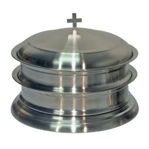 Stainless Steel Communion Ware-Stackable Trays-Bread Plates