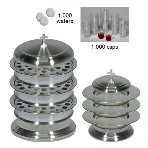 Stainless Steel Communion Ware Complete Set - Serves 120