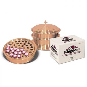 Copper Plated Stainless Steel Communion Ware - For Up To 120