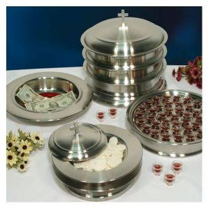 Stainless Steel Communion Ware Set - Serves 160