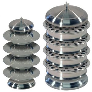 Stainless Steel Communion Ware - Complete Set without Offering Plates