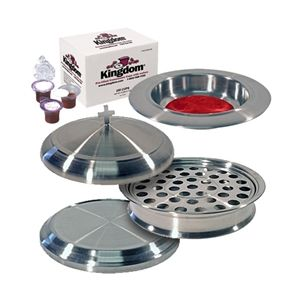 Stainless Steel Communion and Offering Set - 160 2