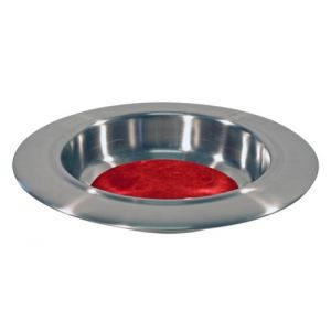 Offering Plate with Red Felt Center - 12 Inches