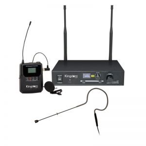 Kingdom Single UHF Wireless Beltpack System with Black Earworn Microphone