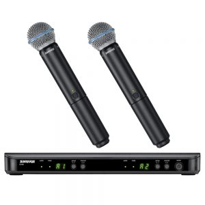 Shure BLX288/B58-H10 Dual Channel Wireless Handheld Microphone System