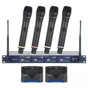 VocoPro UHF-5805 4 Handheld Wireless Microphone System