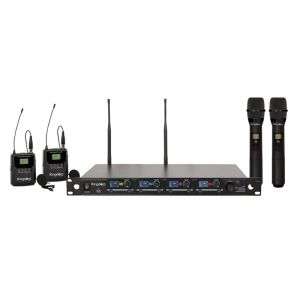 Kingdom V5 Wireless Mic System with 2 Handhelds, 2 Beltpacks with Lapels
