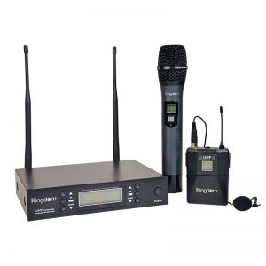 Kingdom Dual Digital Microphone System with Handheld and Lapel with Beltpack