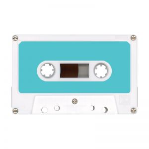 Pre-Printed Audio Cassette Tape Labels - Choice of Colors