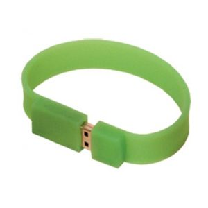 USB 2.0 Flash Drive Wristband - 512MB Green