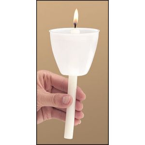 Torch Light Shield w/ Candles - 50 Pack