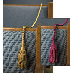 Weighted Pew Ropes - Burgundy or Gold