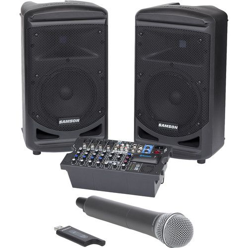 Samson Expedition XP800 800W Portable PA System w  Stage XPD1 Handheld  Wireless Microphone System dfa61bd62d362