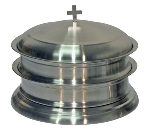 Stainless Steel Communion Ware Stackable Trays Bread Plates