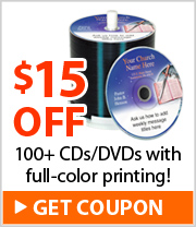 $15 off 100 or more OnDisc Printed Discs
