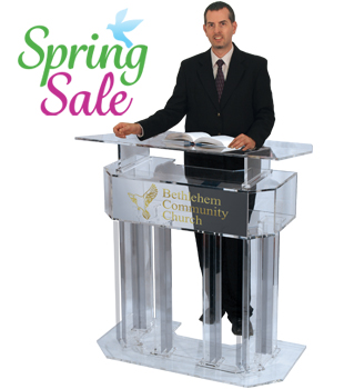 Personalized Three-tier Clear Acrylic Lectern