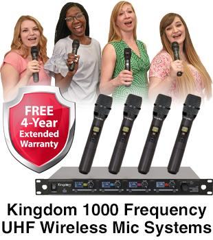 Kingdom 1000 Frequency UHF Wireless Mic Systems