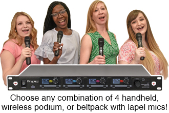Kingdom V5 Wireless Microphone Configurable Systems