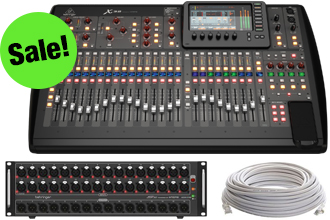 Behringer Digital Mixer Package- everything you need in one low bundled price