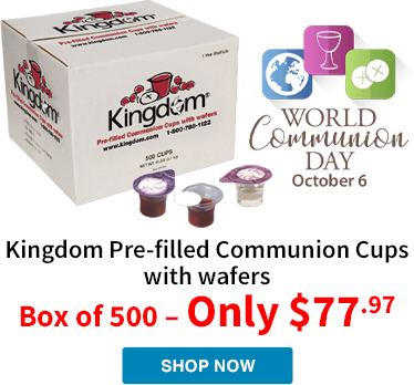 Summer Sale price on 500 count Kingdom Prefilled Communion Cups