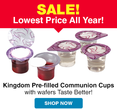 Low price on our 500 count Prefilled Communion Cups