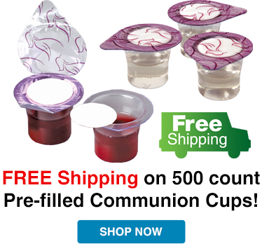 Free Shipping on 500 count Prefilled Communion Cups
