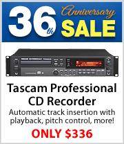 Coupon Savings on Tascam CD-RW900MKii CD recorder