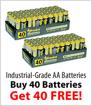 Buy one AVTronics AA Battery Package get one FREE