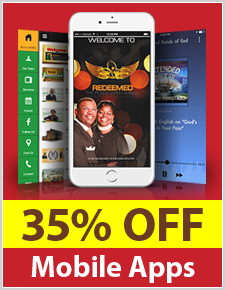 35% off App Setup for our Anniversary