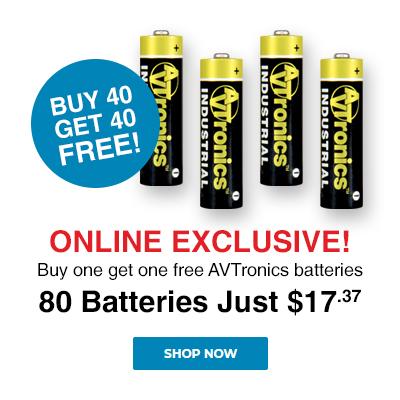 Buy one get One Free AVTronics Batteries