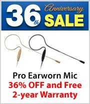 36% off AVTronics Pro Series Earworn Microphone