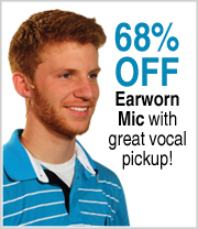 68% off Earworn Mic with great vocal pickup