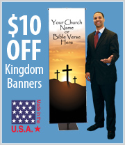 $10 off Kingdom Banners with Coupon