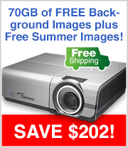 Free Shipping and Free Images with this Optoma Projector