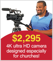 4K Ultra HD Pro JVC Camera designed especially for churches