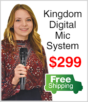 Free Shipping on Kingdom Digital Mic System