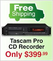 Tascam Professional CD Recorder with Free Shipping